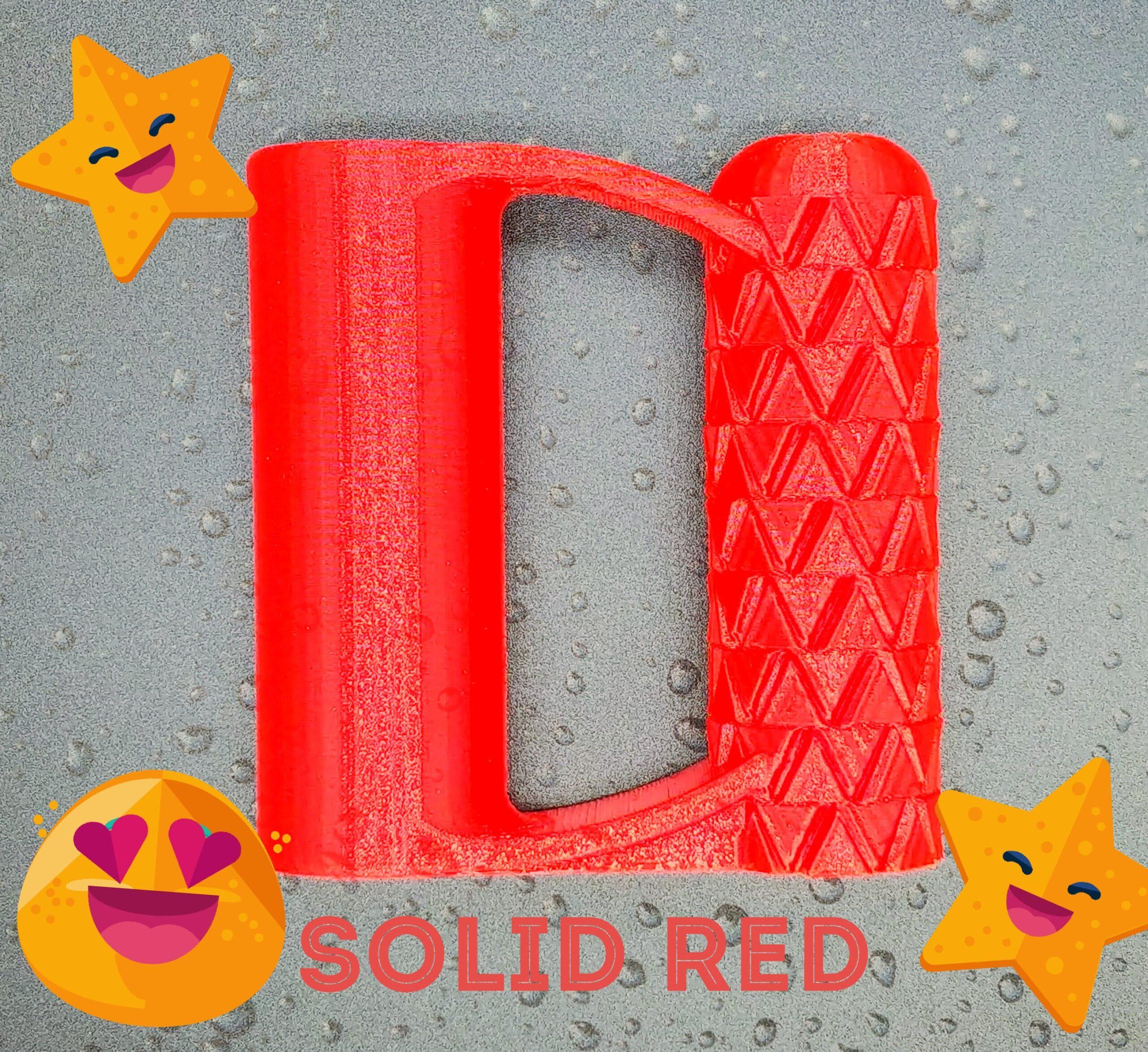solid red PETG shovel handle