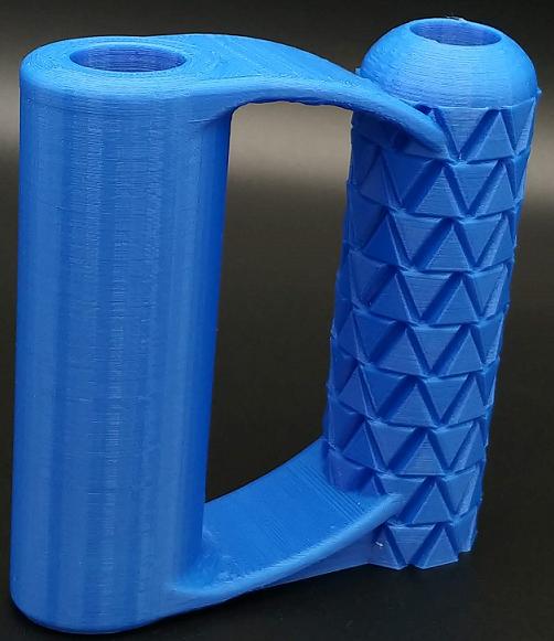 Blue PLA Shovel Handle