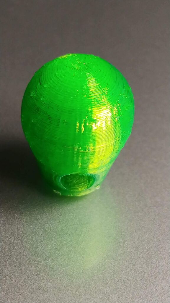 translucent green PETG