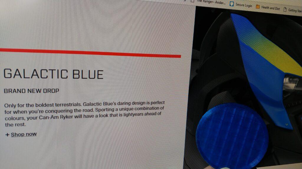 translucent blue PETG